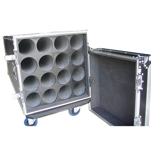 Mic stand flight cases with wheels fit for 16 mic stand