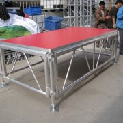 Assembled performance stage plywood stage with aluminum fram