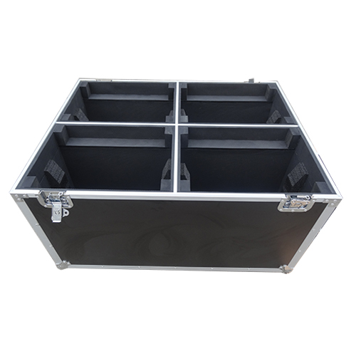 Durable 4 moving lighting flightcase with strong wheels