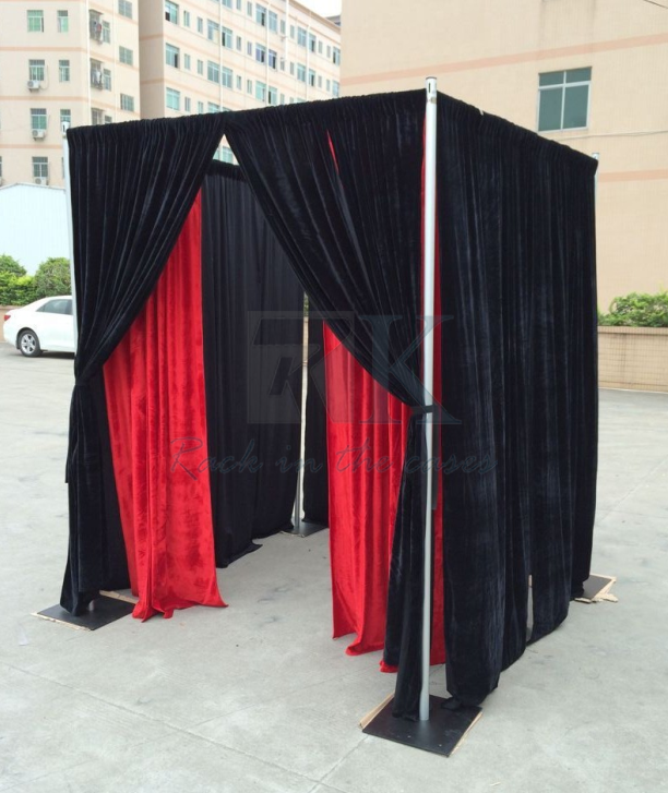 RK Photo Booth made up with Drapes and Pipe for Photography