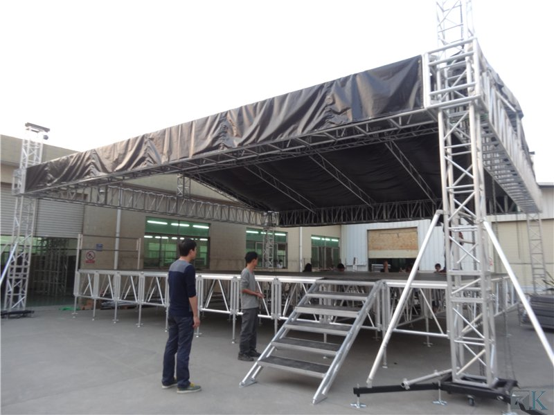 Aluminum Truss Circle Truss with stage for outdoors events